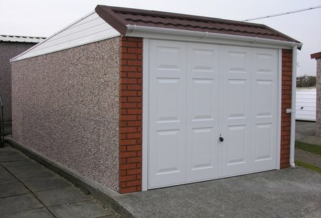 Five cool simple and affordable concrete garage for Garage construction ideas